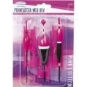 Fladen Pennflöten med rev, 3-pack - Rosa