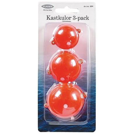 Fladen Kastkulor 3-pack - Röd