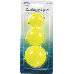 Fladen Kastkulor 3-pack - Gul