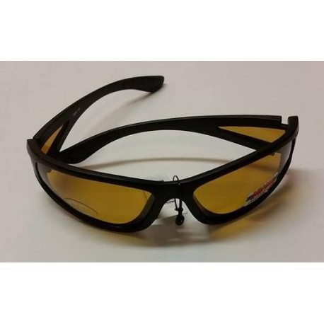 Fiskeglasögon, polariserande med gul lins