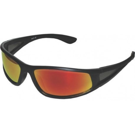 Fiskeglasögon, polariserande med röd lins