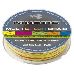 Kinetic Flerfärgad Flätlina 250m - 0,38mm