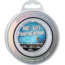 Savage Gear Soft Fluoro Carbon 20m 0.60mm/21.6kg