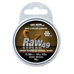 Savage Gear Raw49 Wire 10m 0.36mm/11kg
