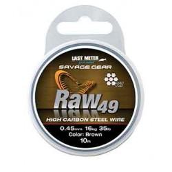 Savage Gear Raw49 Wire 10m 0.45mm/16kg