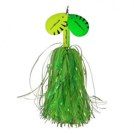 EFFZETT Pike Rattlin' Spinner 65g - Fluo Yellow/Green
