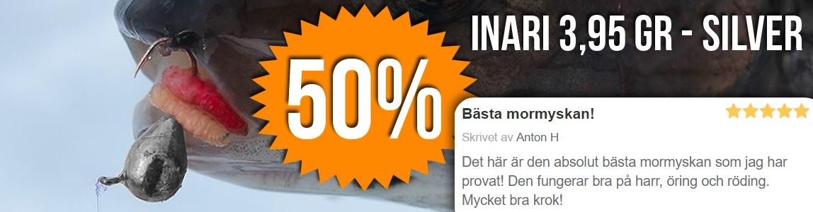 50% rabatt på Inari mormyska 3,95 gr - Silver