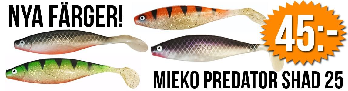 Nya färger på Mieko Predator Shad 25